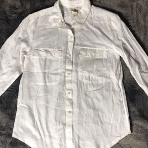 Levi's 100% white Cotten linen shirt